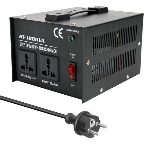 ST-1000W Uso domestico 100V-220V, convertidor de voltaje de electrodomesticos