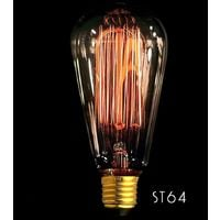 ST64 Vertical Bombilla de filamento E27 40W Edison Vintage Decoracion Industrial