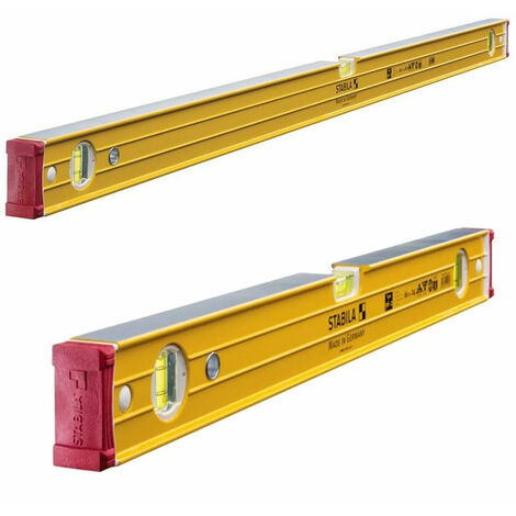 Stabila 96-2 Double Plumb Ribbed Box Level Twin Pack 60cm + 120cm