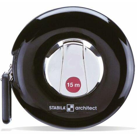Stabila Mètre-ruban ARCHITECT, ruban de mesure en acier , 15m 10656