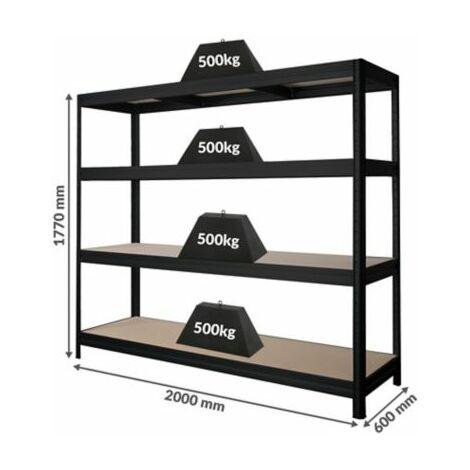 Stabiles Garagenregal   Tragkraft bis zu 500 Kg pro Fachboden   1770 x 2000 x