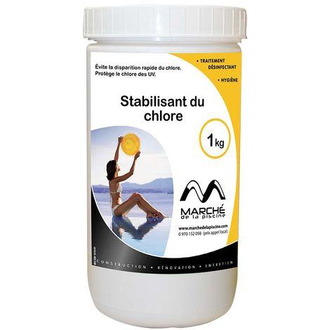 Stabilisant du chlore piscine Marchedelapiscine poudre en pot 1kg
