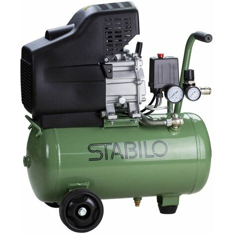 Stabilo Druckluft Kompressor 24l 8 bar Kolbenkompressor Druckluftkompressor