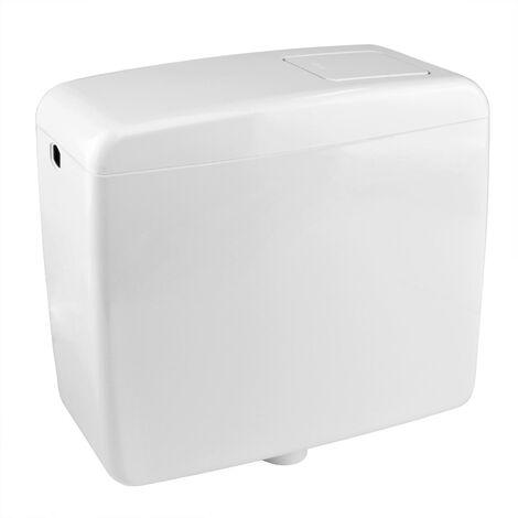 Stabilo-Sanitaer WC Aufputz Spülkasten Toilette Spülung 6-9 Liter weiss Zubehör