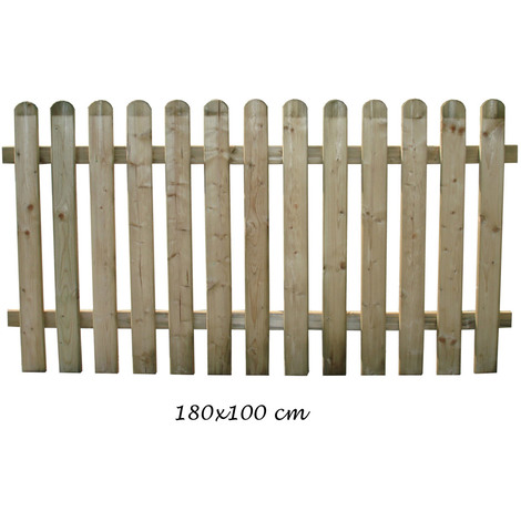 Recinzioni Per Giardino In Legno.Staccionata 180x100 Bordura In Legno Steccato Per Giardino Da