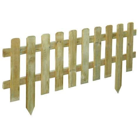 Staccionata in legno impregnato 30x120 h30-45 cm