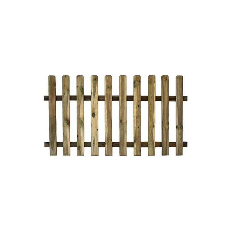 Steccato Estensibile Giardino : Staccionata steccato legno di pino autoclavato cm h