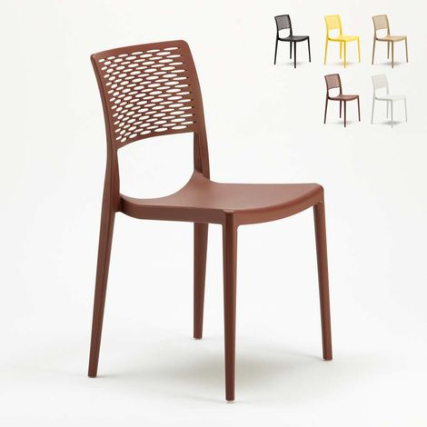 Stackable Dining Chair for Kitchen Garden Bistro Polypropylene CROSS