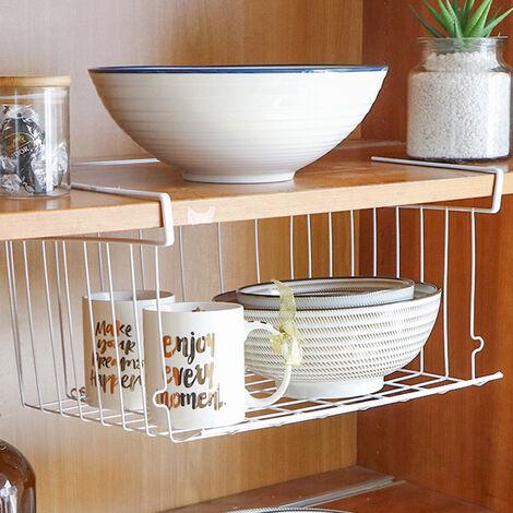 Stackable Hanging Basket Under Shelf Hanging Metal Wire Storage Basket