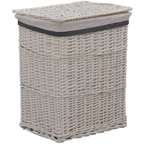 Stackable Laundry Basket White Willow