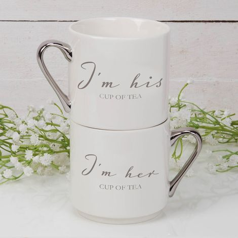 Stackable Mug Gift Set - I'm His & Her Cup of Tea