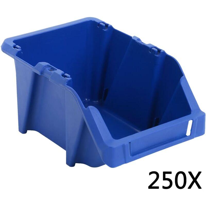 Image of Stackable Plastic Storage Box by Blue - Dakota Fields