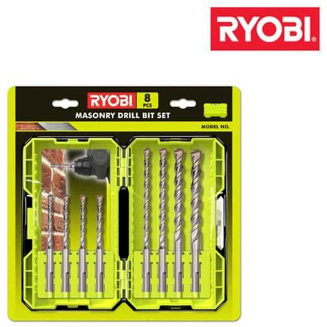 Stacking set 8 SDSPLUS RYOBI RAK08SDS2 drills