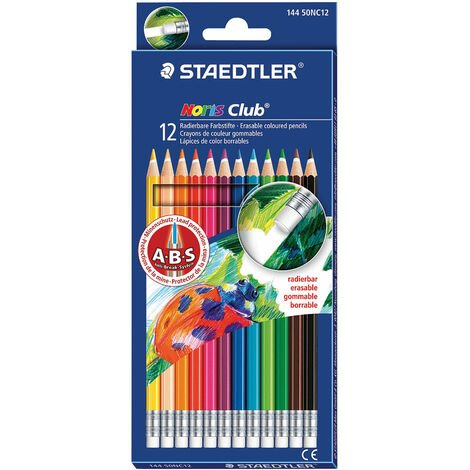 Staedtler Noris Club Erasable Coloured Pencils Pack of 12