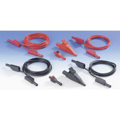 Stäubli SET3000345 Set de cordons de mesure de sécurité [Banane mâle 4 mm - Banane mâle 4 mm] 2.00 m noir, rouge 1 pc(s) Q70154