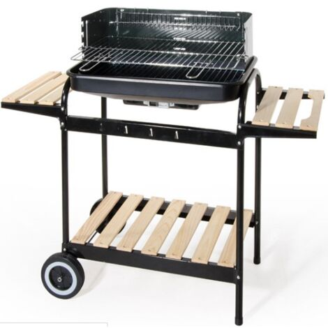 Stahl-Holzkohlegrill mit 2-Etagen-Wagen | Stahl