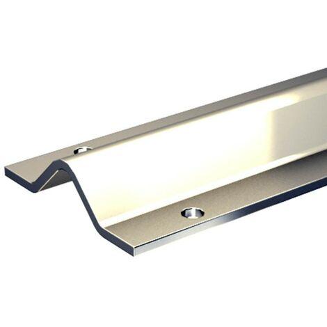 Stahl-Laufschiene 195 cm für V-Rille / V-Nut, für Schiebetore bis max. 400 kg