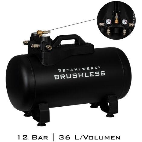STAHLWERK Aluminiumtank Kessel für Druckluftkompressoren 36 L bis 12 Bar 7,3 kg
