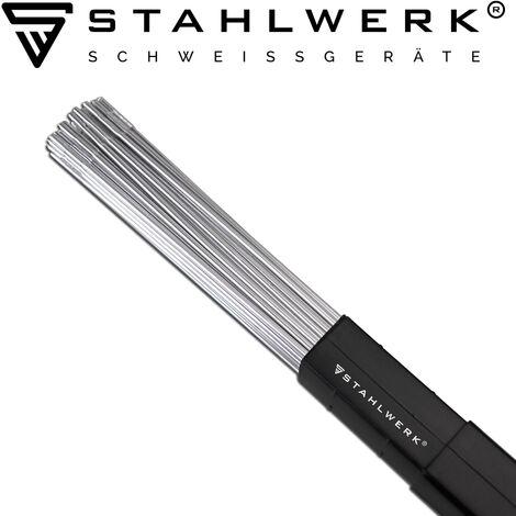 STAHLWERK Baguettes à souder ER4043Si5 Aluminium fortement allié/Ø 1,6 mm x 500 mm / 2 kg WIG Consommable de soudage, Boîte de rangement incluse
