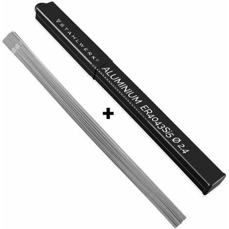 STAHLWERK Baguettes à souder ER4043Si5 Aluminium fortement allié/Ø 2,4 mm x 500 mm / 2 kg WIG Consommable de soudage