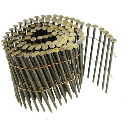 STAHLWERK clavos para aire comprimido con caña de clavo helicoidal 2,9 x 88 mm, 225 piezas para pistola de clavos con aire comprimido