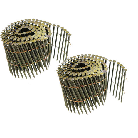 STAHLWERK clavos para aire comprimido con caña helicoidal 2,7 x 78 mm, 225 piezas pistola de clavos con aire comprimido, acceserio, conjunto de 2