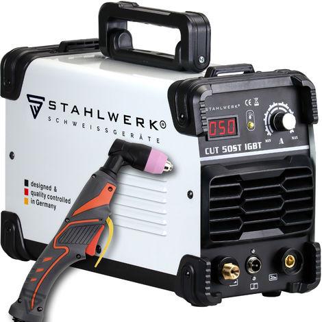 STAHLWERK CUT 50 ST Coupeur de plasma IGBT avec 50 Ampères, performance de coupe jusqu'à 14mm, convient pour tôle peinte, garantie* du fabricant de 5 ans