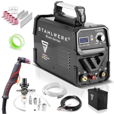 STAHLWERK CUT 50P Découpeur à plasma IGBT avec allumage pilote; Equipement complet