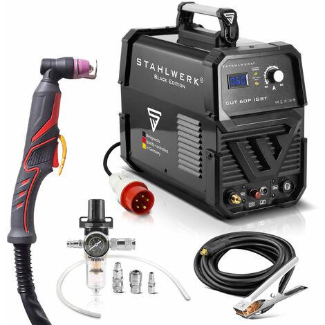 STAHLWERK CUT 60 Piloto cortador de plasma 60 Amperio y encendido piloto, rendimiento de corte hasta 24 mm, para chapas pintadas & oxidadas, 7 años de garantía por parte del fabricante