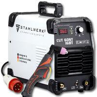 STAHLWERK CUT 60 ST Coupeur de plasma IGBT avec 60 ampères, capacité de coupe jusqu'à 24 mm, adapté aux tôles peintes, garantie* de 5 ans du fabricant