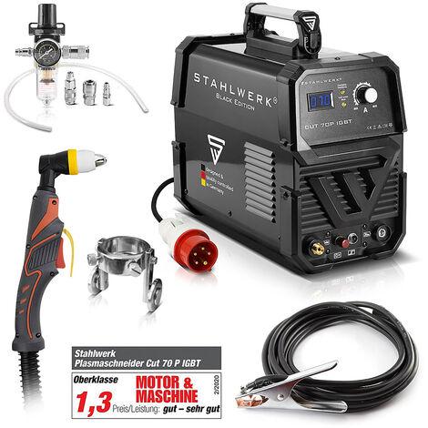 STAHLWERK CUT 70 P Coupeur de plasma IGBT avec 70 ampères, allumage pilote, capacité de coupe jusqu'à 25 mm ,adapté aux tôles peintes, garantie* de 7 ans