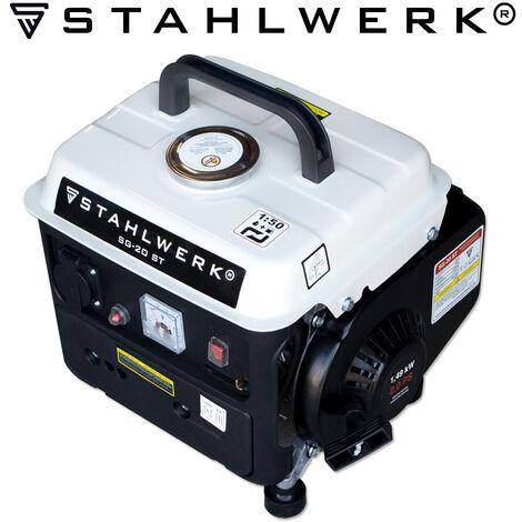 STAHLWERK generador SG-20 ST, 2 CV, generador de gasolina, grupo electrógeno de emergencia, eficaz y potente, consumo bajo y de pocas inspecciones