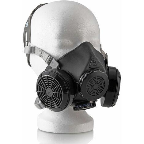STAHLWERK HM-2 ST Demi-masque / masque respiratoire avec double filtre