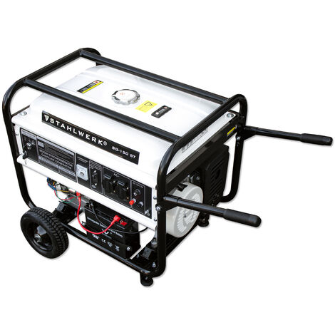 STAHLWERK Power Generator SG-150 ST, 15 HP, Petrol Generator, Power Generator, Emergency Power Unit, Reliable and Powerful, Efficient and Low Maintenance