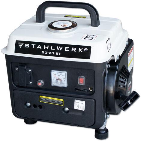 STAHLWERK Power Generator SG-20, 2 HP, Petrol Generator, Power Generator, Emergency Power Unit, Reliable and Powerful, Efficient and Low Maintenance
