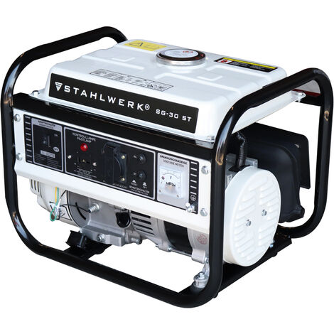 STAHLWERK Power Generator SG-30 ST, 3 HP, Petrol Generator, Emergency Power Unit, Reliable and Powerful, Intuitive Operation, Efficient and Low Maintenance