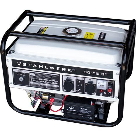 STAHLWERK Power Generator SG-65 ST, 6.5 HP, Petrol Generator, Power Generator, Emergency Power Unit, Efficient and Low Maintenance, 7 Year Warranty