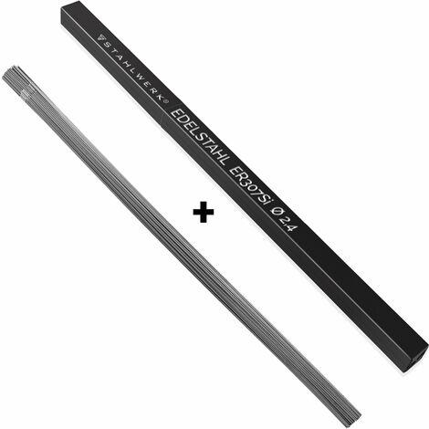 STAHLWERK Schweißstäbe ER307Si Edelstahl hochlegiert / Ø 2,4 x 500 mm / 2 kg WIG Schweißzusatz