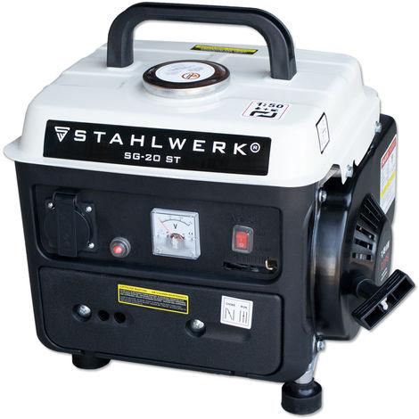 STAHLWERK Stromgenerator SG-20, 2 PS Benzingenerator Stromerzeuger Notstrom-Aggregat, zuverlässig und leistungsstark, verbrauchseffizient und wartungsarm, 7 Jahre Garantie