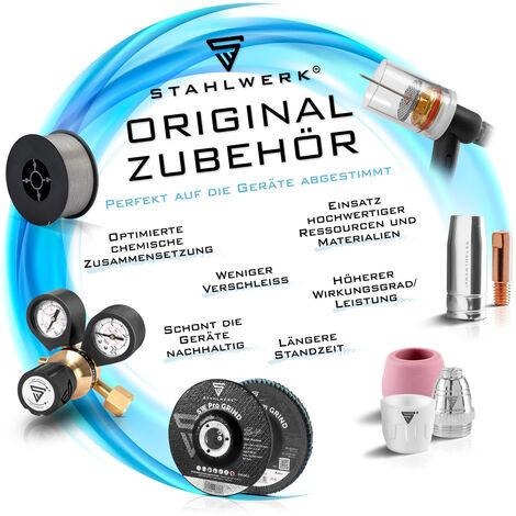 STAHLWERK TIG Baguettes à souder ER70S-G3 Acier/Ø 1,6 x 500 mm / 1 kg TIG Consommables de soudage Matériau d'addition Boîte de rangement incluse