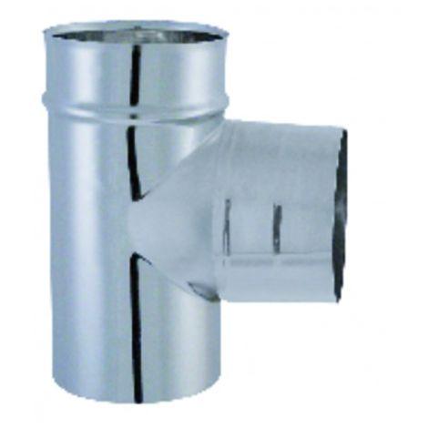 Stainless flue shaft - 90° T-joint diameter 139mm - ISOTIP JONCOUX : 032913