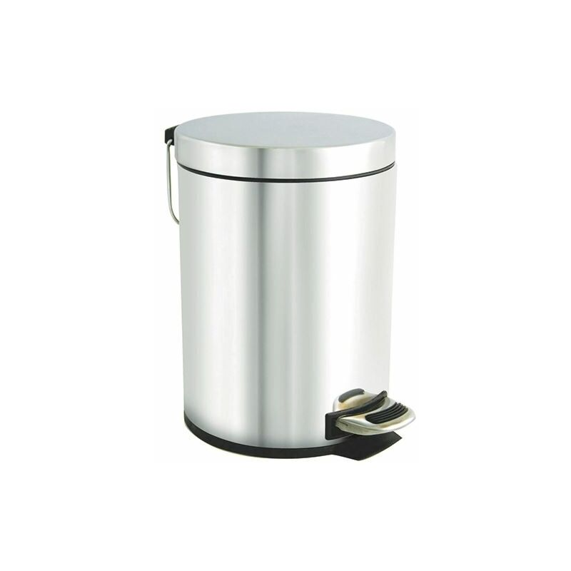 Stainless Pedal Bin 5Ltr Silver - CX05425