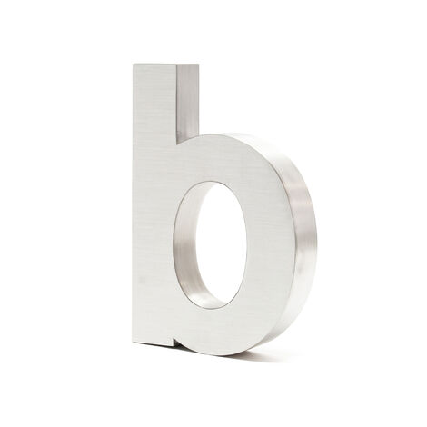 Stainless Steel 3-D House Number b Arial 20cm Rustproof and Weather-resistant with Satin Finish