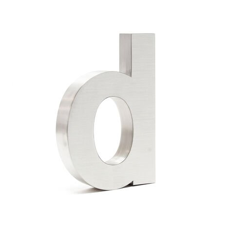 """Stainless Steel 3-D House Number """"d"""" Arial 20cm Rustproof and Weather-resistant with Satin Finish"""