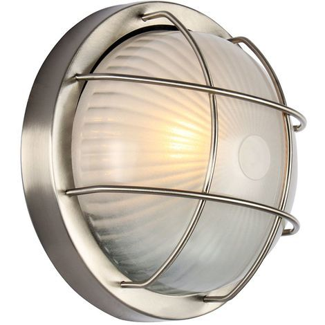 Stainless Steel Aluminium Outdoor Bulkhead Wall/Ceiling Light by Happy Homewares