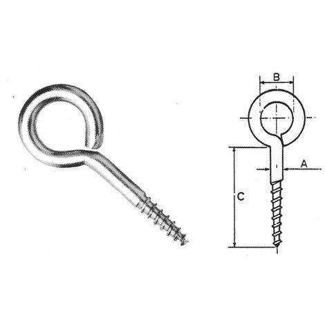 Stainless steel and Xylan Coated eyelet screws