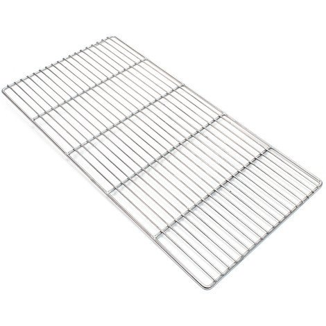 Stainless steel Barbecue grate rectangular 58 x 30 cm rust free for charcoal grill, gas grill and others