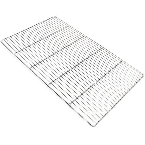 Stainless steel Barbecue grate rectangular 67 x 40 cm rust free for charcoal grill, gas grill and others