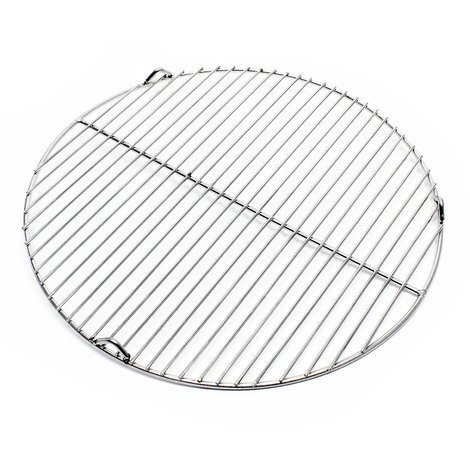 Stainless steel Barbecue grate round 44,5cm rust free for charcoal, gas, swing and others grills