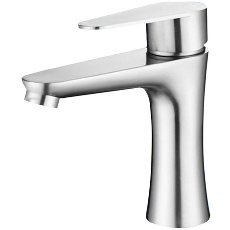 Stainless steel basin faucet with 60cm hot and cold water inlet pipe